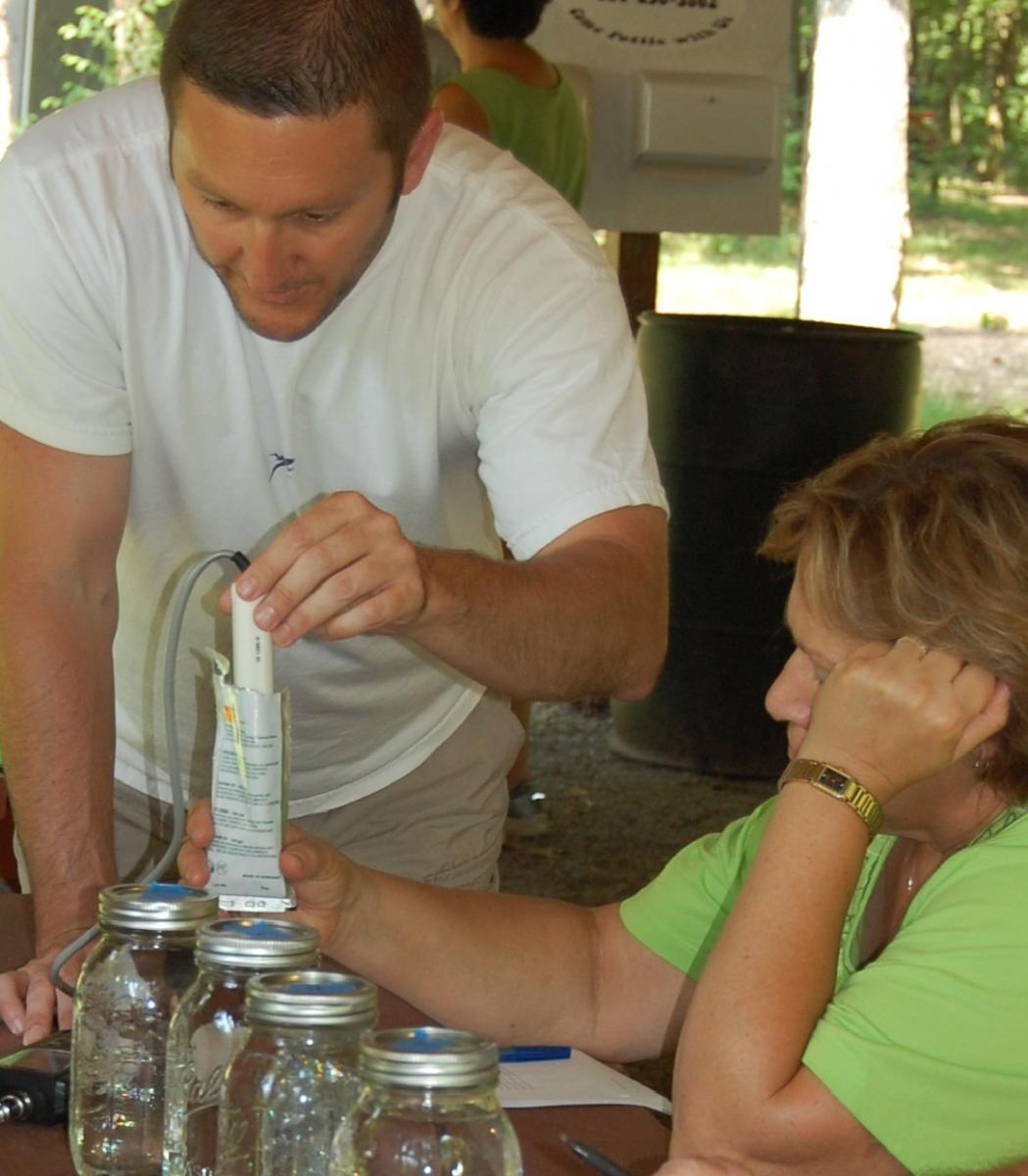 Dave Yoxtheimer water quality testing (photo)
